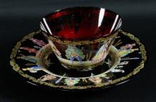 BOHEMIAN CUP AND SAUCER