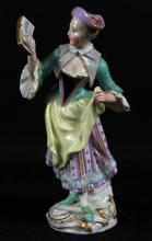 19TH C. MEISSEN FIGURE OF WOMAN SINGING