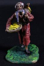AUSTRIAN COLD PAINTED FIGURE OF BANNANA VENDOR