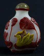 CHINESE ANTIQUE SNUFF BOTTLE