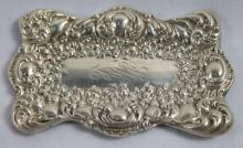 STERLING SILVER MINIATURE TRAY