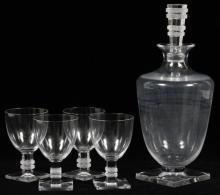 LALIQUE 'ARGOS' GLASS DECANTER & WINES
