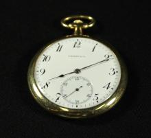 TIFFANY AND CO. GOLD POCKET WATCH