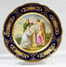 19TH C ROYAL VIENNA-STYLE PAINTED PLATE