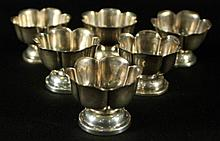 SET OF 6 SILVER CUPS