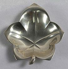 TIFFANY AND CO. STERLING SILVER LEAF SHAPED TRAY