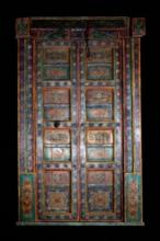 HAVELI POLYCHROME WOOD DOORS WITH FRAME, 90.5