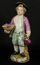 Exquisite Meissen Figurine - A Boy Representing Autumn