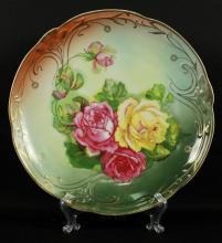 GERMAN FLORAL PORCELAIN PLATE