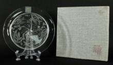 LALIQUE PLATE WITH ORIGINAL BOX
