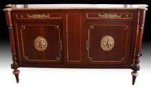 LATE 19TH C FRENCH STYLE SIDEBOARD CABINETS