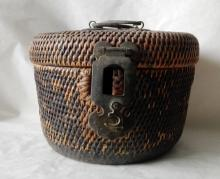 Republican period(1912-1949) caned teapot container used for heat preservation