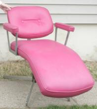 Mid Century hot pink beauty salon chair by Belvedere