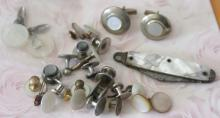 men's estate jewelry: cufflinks and pocket knife
