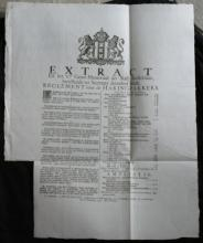 RARE 1779 Dutch antique info industrial ad sheet paper
