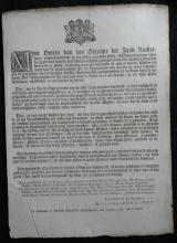 RARE 1789 Dutch info ad antique paper sheet taxation pleasure gardens