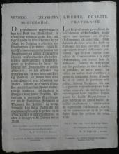 RARE 1795 Dutch and French antique info ad sheet paper