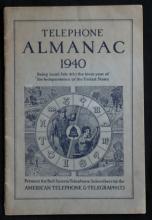 antique 1940 AT & T ATT telephone almanac