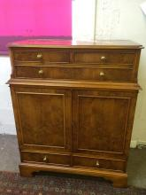 Antique walnut style cabinet