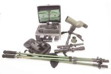 A boxed Winchester spotting scope, a BSA telescopic sight and a Gamo telesc