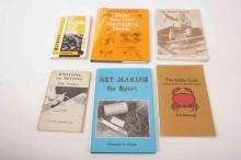 A selection of books covering inshore fishing and tackle making