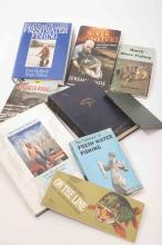 Nine fishing books including River Monsters
