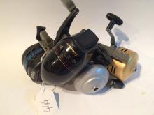 Four vintage closed face reels to include zebco black max limited edition