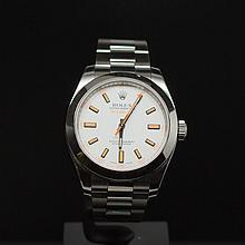 Rolex Stainless Steel 40mm Milgauss White Dial Men's Wristwatch