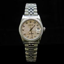 Rolex DateJust 31mm Jubelee Diamond Dial & Bezel Aprox. 1.5 cts. Womens Wristwatch