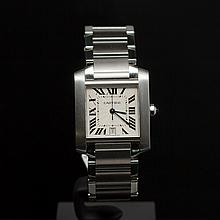 Cartier Tank Francaise Stainless Steel Men's Wristwatch