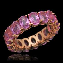 14K Gold 10.82ct Pink Sapphire Ring