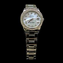 Rolex DateJust 31mm Oyster Band Diamond Dial & Bezel Aprox. 1.85 Womens Wristwatch