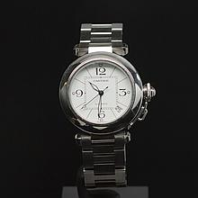 Cartier Pasha Stainless Steel 35mm Men's Wristwatch
