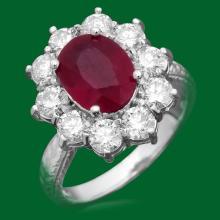 14k Gold 3.21ct Ruby 2.02ct Diamond Ring