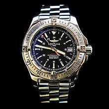 Breitling Colt Automatic SS 41mm Black Dial Luxury Mens Wristwatch