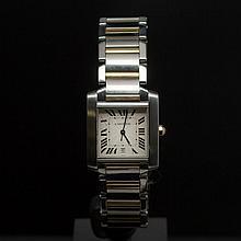 Cartier Two-Tone Tank Francaise Men's Wristwatch
