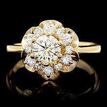 14k Yellow Gold 1.15ct Diamond Ring