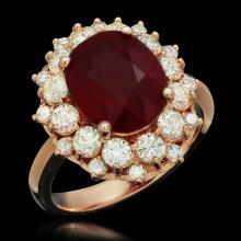 14K Gold 4.88ct Ruby 1.50ct Diamond Ring