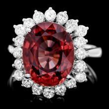 14k White Gold 9.00ct Zircon 1.15ct Diamond Ring