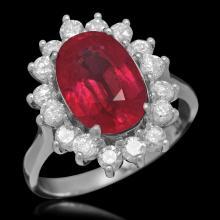 14K Gold 4.64ct Ruby 0.98ct Diamond Ring