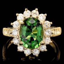 14k Gold 2.35ct Tourmaline 1.10ct Diamond Ring