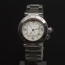 Cartier Pasha Seatimer Stainless Steel Men's Wristwatch