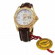 Breitling Cockpit 2.86ct Diamond Red Gold Men's Wristwatch (LIMITED EDITION)