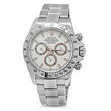 Rolex Stainless Steel Daytona Oyster Perpetual Men's Wristwatch