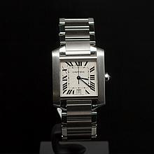 Cartier Tank Francaise Stainless Steel Men's Wristwatch