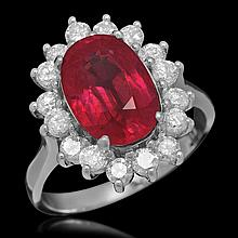 14K Gold 4.64ct Ruby 0.98ct Diamond Ring