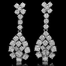14K Gold 2.97ct Diamond Earrings