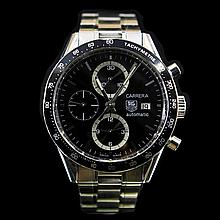 Tag Heuer Carrera 43mm Black Dial Automatic Mens Wristwatch