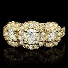 14k Yellow Gold 1.95ct Diamond Ring