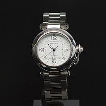 Cartier Pasha Stainless Steel 35mm Men's Wristwatch